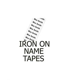 Iron on Name Tape